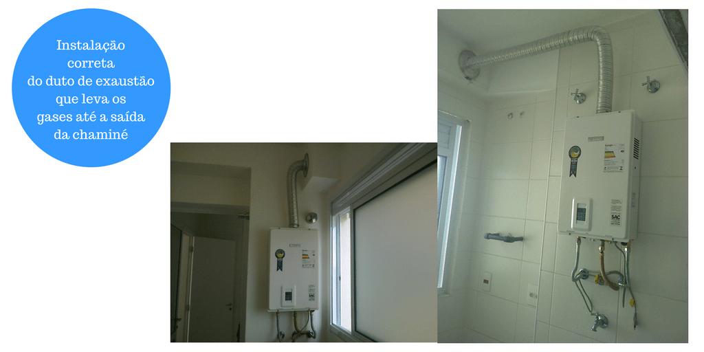 O duto de exaustão deve ser bem instalado seguindo as orientação de normas.