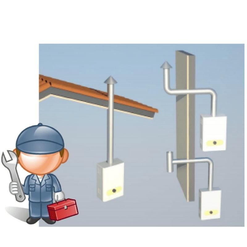 A instalação correta da chaminé garante a saída dos gases nocivos.