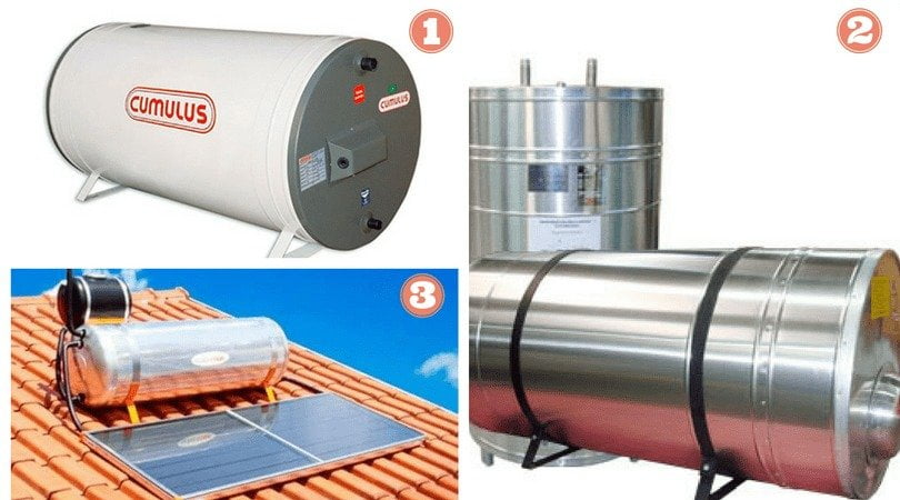 Existem três formas de aquecimento de água no boiler
